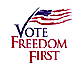 Vote Freedom First