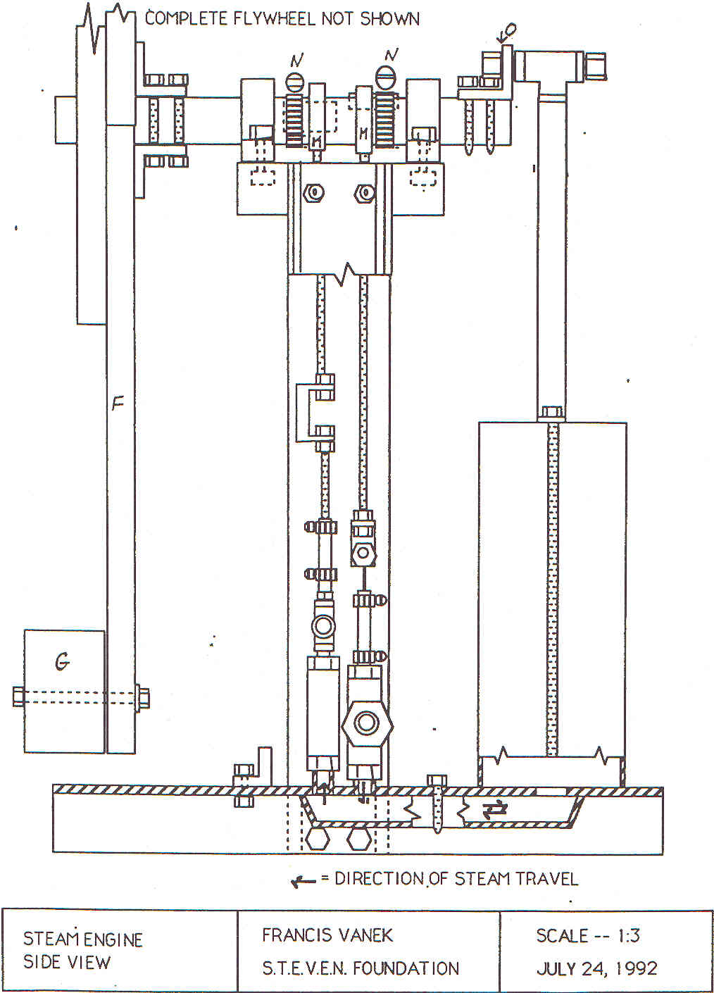 Steven Homepage Steam Engine Piston Diagram The Can Be Divided Into Two Parts A Cylinder Crank Flywheel Assembly And Frame Is Fastened To Using Gasket