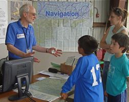 Peter French teaching navigation