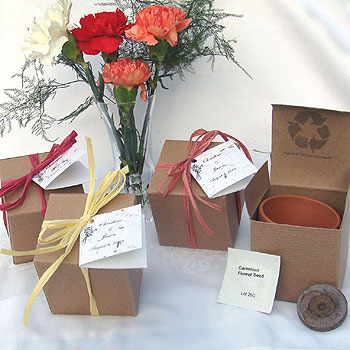 wedding seed favors flower favors for weddings
